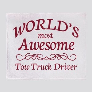 Awesome Tow Truck Driver Throw Blanket