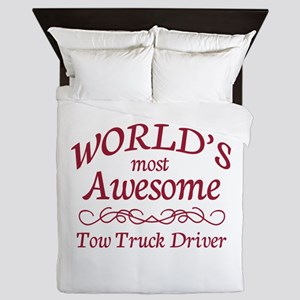 Awesome Tow Truck Driver Queen Duvet