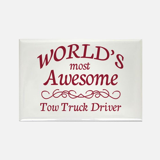 Awesome Tow Truck Driver Rectangle Magnet (100 pac