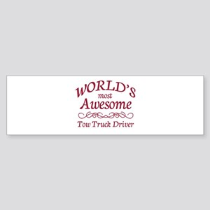 Awesome Tow Truck Driver Sticker (Bumper)