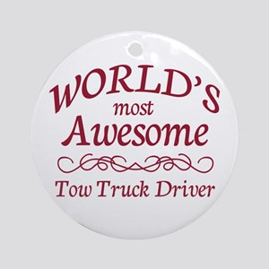 Awesome Tow Truck Driver Ornament (Round)