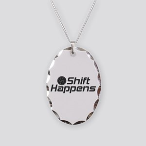 Shift Happens Necklace Oval Charm