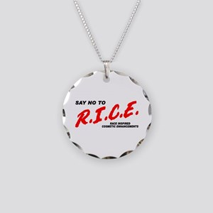 Say No To Rice Necklace Circle Charm