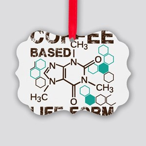 Coffe based life form Picture Ornament