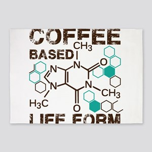 Coffe based life form 5'x7'Area Rug