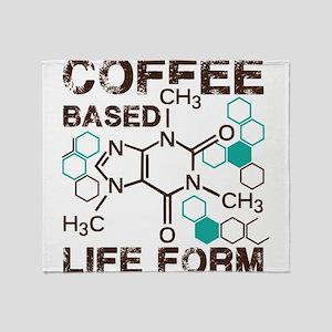 Coffe based life form Throw Blanket