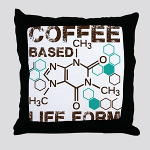 Coffe based life form Throw Pillow