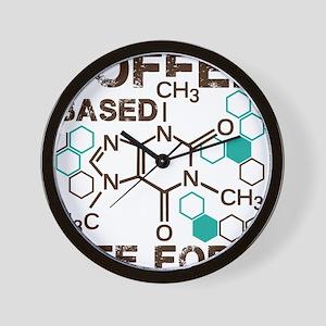 Coffe based life form Wall Clock