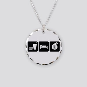 Eat Sleep Boost Necklace Circle Charm