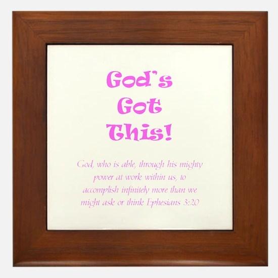 Gods Got This Framed Tile