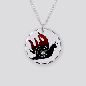 Boost Snail Necklace Circle Charm