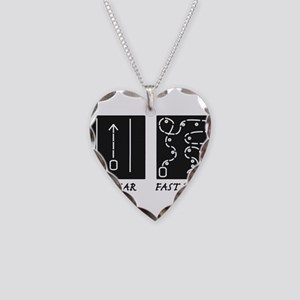 Fast Car Fast Driver Necklace Heart Charm