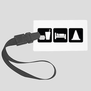 Eat Sleep AutoX Large Luggage Tag