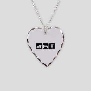 Eat Sleep Drag Necklace Heart Charm