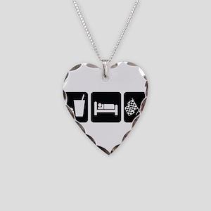 EatSleepRaceDesign2 Necklace Heart Charm