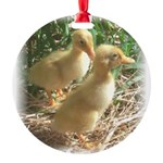 Cute Little ducklings Round Ornament