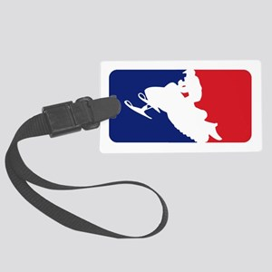 Major League Snowmobiler Large Luggage Tag