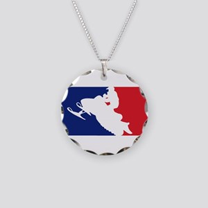 Major League Snowmobiler Necklace Circle Charm