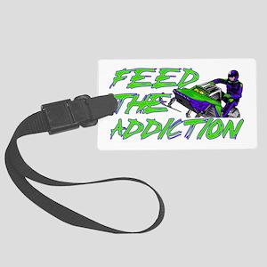 Feed The Addiction Large Luggage Tag