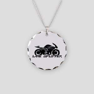 Lane Splitter Necklace Circle Charm
