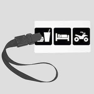 EatSleepATVDesign2 Large Luggage Tag