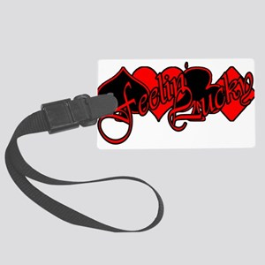 FeelinLuckyDesign2 Large Luggage Tag
