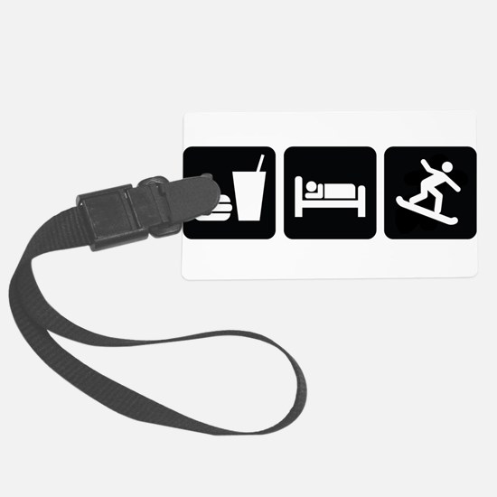 EatSleepSnowboardDesign2.png Luggage Tag
