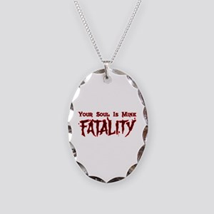 MK Fatality Necklace Oval Charm