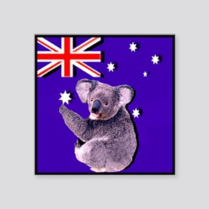 Australia Flag & KOALA Rectangle Sticker