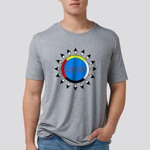 QUECHAN4COLORDARKSHIRT Mens Tri-blend T-Shirt