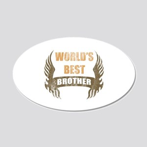 World's Best Brother (Wings) 20x12 Oval Wall Decal