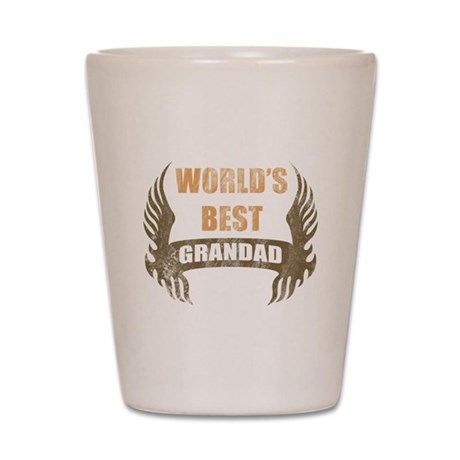 World's Best Grandad (Wings) Shot Glass