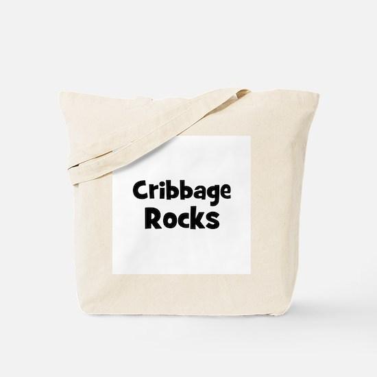 CRIBBAGE Rocks Tote Bag