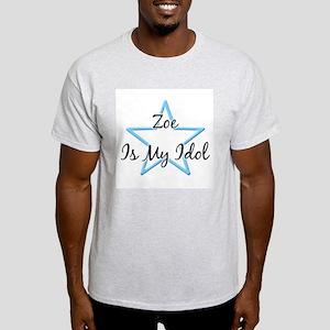 ZOE IS MY IDOL Ash Grey T-Shirt