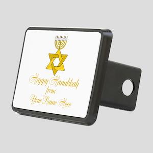 Custom Hanukkah Rectangular Hitch Cover