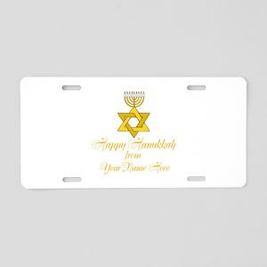 Custom Hanukkah Aluminum License Plate