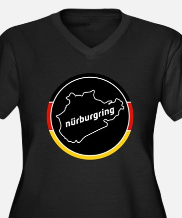 Nurburgring Women's Plus Size V-Neck Dark T-Shirt