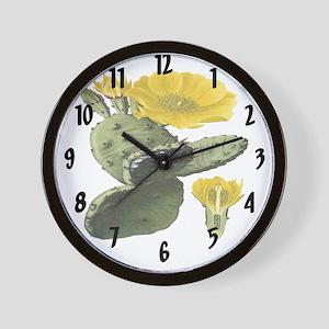 Vintage Cactus Print Wall Clock