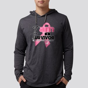 I am a Survivor - Breast Cancer. Mens Hooded Shirt