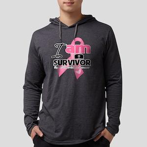 I am a Survivor - Breast Cancer. Mens Hooded Shirt