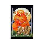 Corgi Halloween Rectangle 'BOO' Magnet