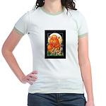 Corgi Halloween Women's Jr. Ringer T-Shirt