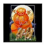 Corgi Halloween Art Tile Coaster