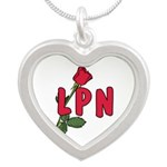 LPN rose update Silver Heart Necklace
