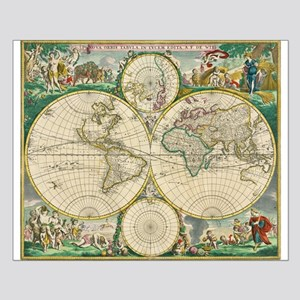 World Map 1670 Small Poster