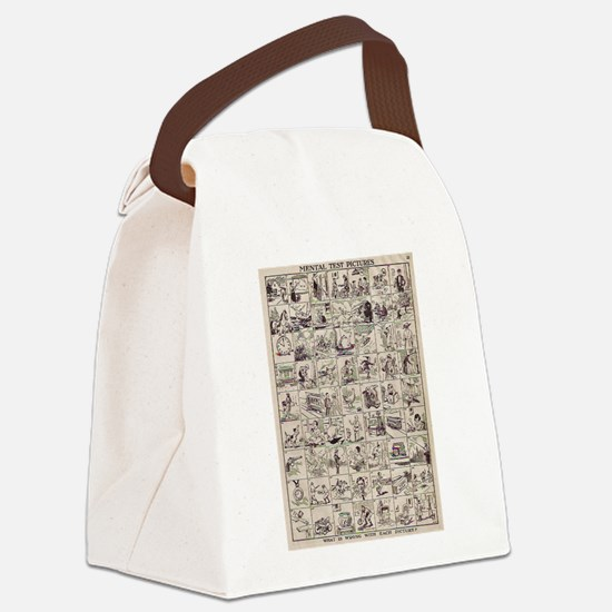 Mental Test Canvas Lunch Bag