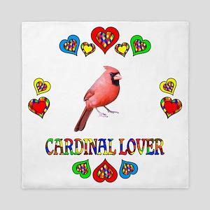 Cardinal Lover Queen Duvet
