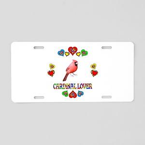 Cardinal Lover Aluminum License Plate