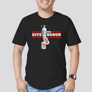 BOD Dive With Honor Men's Fitted T-Shirt (dark)