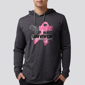My Mom is a Survivor - Breast Ca Mens Hooded Shirt